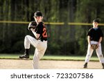 Pitcher In Youth Baseball Game