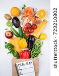 healthy eating background....   Shutterstock . vector #723210802