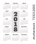 vector pocket 2018 year... | Shutterstock .eps vector #723212002