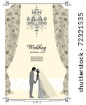 wedding card with space for text | Shutterstock .eps vector #72321535