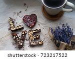a romantic mood. homemade... | Shutterstock . vector #723217522