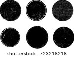 grunge post stamps collection ...   Shutterstock .eps vector #723218218