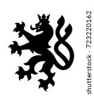black heraldry lion with two... | Shutterstock .eps vector #723220162
