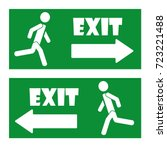 exit icon | Shutterstock .eps vector #723221488