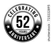 52 years anniversary logo.... | Shutterstock .eps vector #723222895