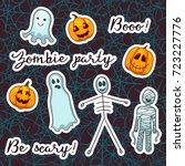 vector collection of halloween... | Shutterstock .eps vector #723227776