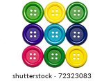square of nine colored buttons | Shutterstock . vector #72323083