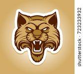 wildcat logo   cat head... | Shutterstock .eps vector #723233932