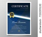 certificate premium template... | Shutterstock .eps vector #723235132