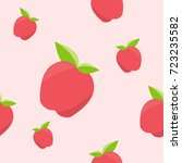 seamless cute pattern with red... | Shutterstock .eps vector #723235582