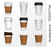 3d blank paper coffee cup...   Shutterstock .eps vector #723237766