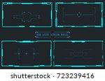 hud abstract illustration... | Shutterstock .eps vector #723239416