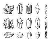 set of hand drawn vector... | Shutterstock .eps vector #723240442