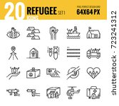 refugee and immigration icon...   Shutterstock .eps vector #723241312