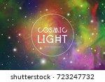 cosmic light colorful vector... | Shutterstock .eps vector #723247732