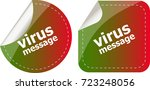 stickers label set business tag ... | Shutterstock . vector #723248056