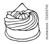 cake vector illustration.... | Shutterstock .eps vector #723252742