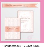 luxury wedding invitation... | Shutterstock .eps vector #723257338