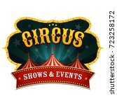 retro circus banner ... | Shutterstock .eps vector #723258172