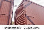 vintage boxcars | Shutterstock . vector #723258898