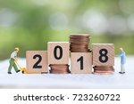 miniature people  worker and... | Shutterstock . vector #723260722