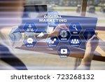 digital marketing technology... | Shutterstock . vector #723268132
