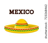 mexican sombrero. colorful... | Shutterstock .eps vector #723268462