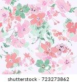 watercolor pattern of beautiful ... | Shutterstock . vector #723273862
