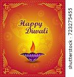 happy diwali light festival of... | Shutterstock .eps vector #723275455