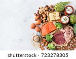 assortment of healthy protein... | Shutterstock . vector #723278305