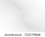 abstract halftone wave dotted... | Shutterstock .eps vector #723279868