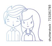 line beauty couple married with ... | Shutterstock .eps vector #723281785