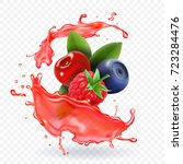 forest mixed berries juice... | Shutterstock .eps vector #723284476