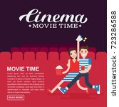 cinema poster or movie banner... | Shutterstock .eps vector #723286588
