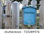 Blue Decorative Old Retro Styl...