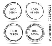 vector hand drawn circles for... | Shutterstock .eps vector #723290218