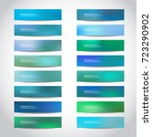 Stock vector vector banners templates or website headers footers with abstract blue mesh background vector 723290902