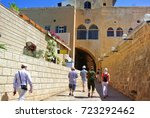 tourist attraction. jaffa.... | Shutterstock . vector #723292462