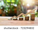 Small photo of coins money increase to profit for concept investment fund finance and business