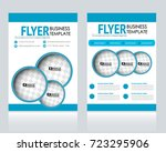 business flyer design template. ... | Shutterstock .eps vector #723295906