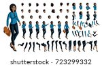 large set of people's emotions... | Shutterstock .eps vector #723299332