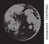 moon  dots  vector illustration ... | Shutterstock .eps vector #723299362