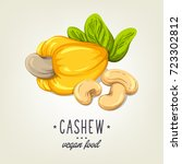 colourful cashew icon isolated... | Shutterstock .eps vector #723302812