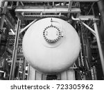 fire coating protection of oil... | Shutterstock . vector #723305962