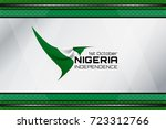 flag of nigeria color... | Shutterstock .eps vector #723312766
