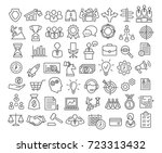 business icons set in line... | Shutterstock . vector #723313432