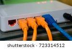 switch hub for lan system | Shutterstock . vector #723314512
