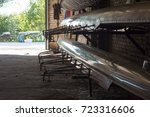 rowing boats storage | Shutterstock . vector #723316606