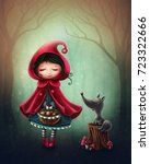 little red riding hood and the... | Shutterstock . vector #723322666