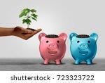 choosing a financial bank and... | Shutterstock . vector #723323722